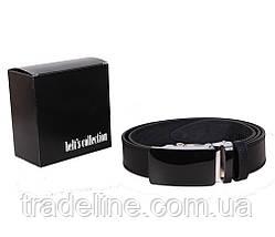 Мужской кожаный ремень Dovhani UK888-91333 120 см Черный, фото 3