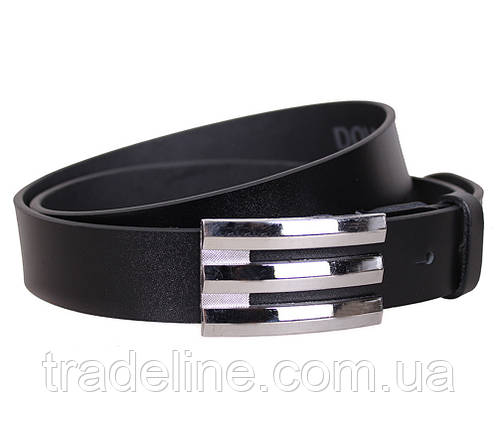 Мужской кожаный ремень Dovhani UK888-95336 120 см Черный, фото 2