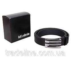 Мужской кожаный ремень Dovhani UK888-95336 120 см Черный, фото 3