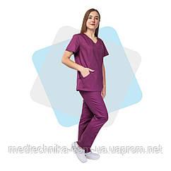 Медицинский костюм Сидней сливовый