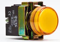 Арматура светосигнальная BV75 неон желтая (устойчива к перепаду напряжения) ~ 220 тм СТС