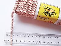 Шнур текстильный декоративный, рожевий світлий (пудра). Діаметр 5 мм.  Моток 9.5-10 метрів. Туреччина., фото 1