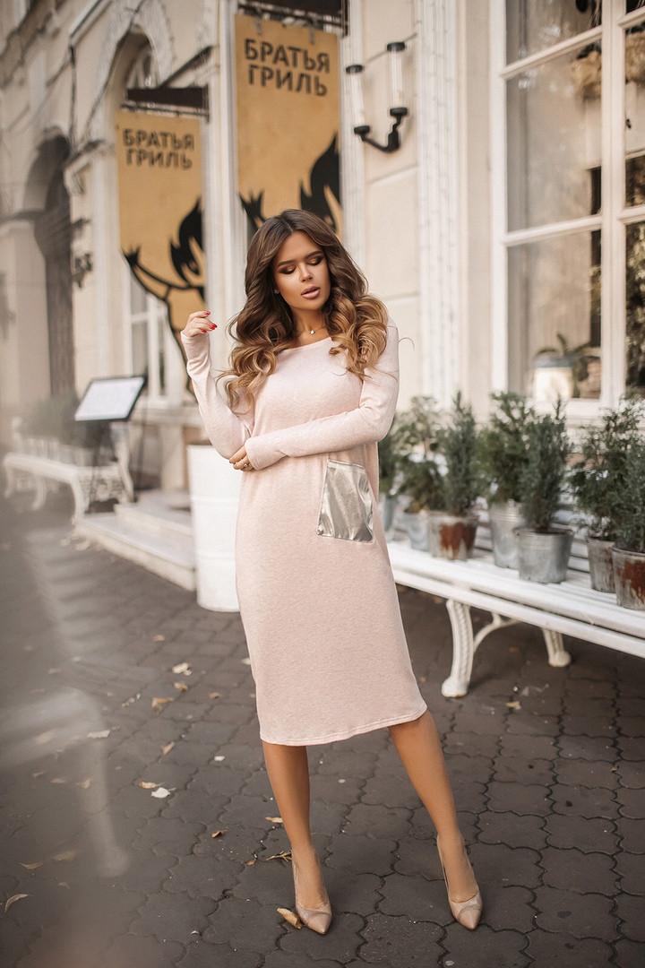 Платье женкое ангора-шелк