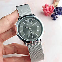 Наручные часы (копия) Emporio Armani Серебро с черным\TOP качество\