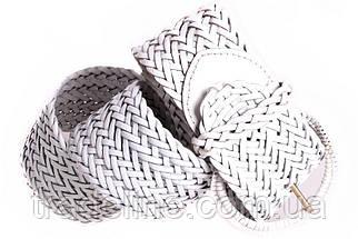 Женский плетеный пояс Dovhani PY4588395 105 см Белый, фото 2