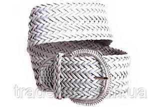 Женский плетеный пояс Dovhani PY4588395 105 см Белый, фото 3