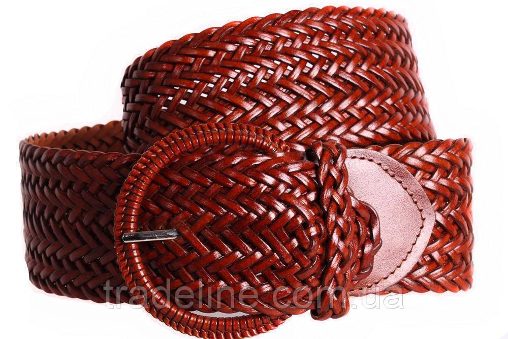 Женский плетеный пояс Dovhani PY4597396 105 см Коричневый