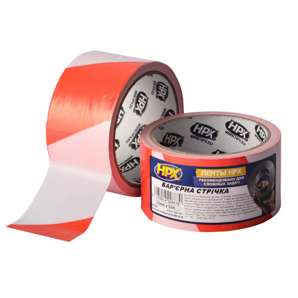 HPX Barrier Tape - высококачественная сигнальная лента для ограждения территорий - 50мм x 50м