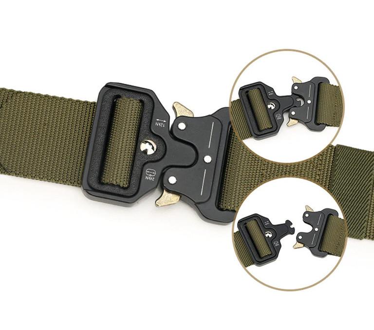 Ремень тактический Assault Belt с металлической пряжкой 145 см Зеленый