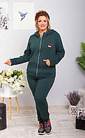 Женский батальный спортивный костюм на флисе
