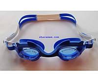 Очки для плавания «Плавнички» (детские, антифог, силиконовая переносица). Цвет синий/белый, фото 1