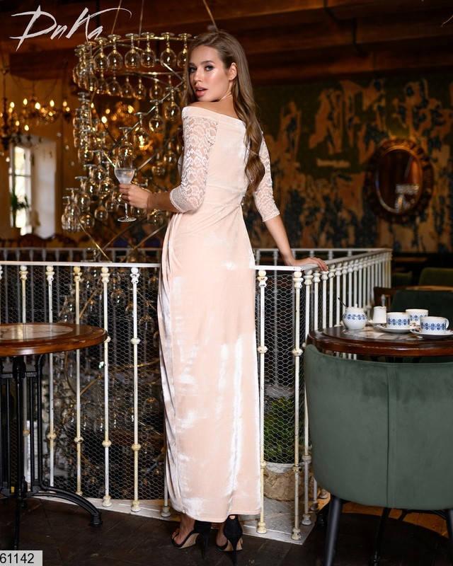 Велюровое вечернее платье, фото 2