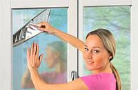 Солнцезащитная металлизированная пленка на окно 80*100 см. (2 шт в уп.)