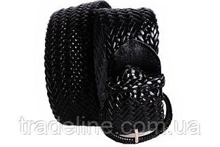 Женский плетеный пояс Dovhani PY4608396 105 см Черный, фото 2