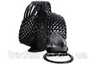 Женский плетеный пояс Dovhani PY4690402 105 см Черный, фото 2