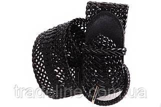 Женский плетеный пояс Dovhani PY4730406 105 см Черный, фото 2