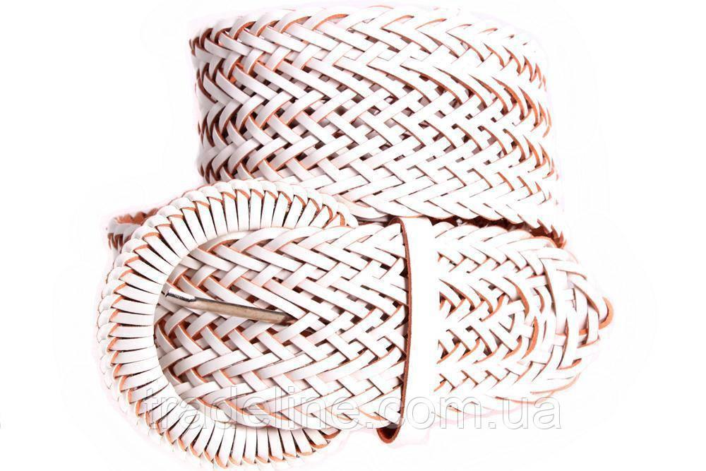 Женский плетеный пояс Dovhani PY4764409 105 см Белый