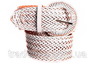 Женский плетеный пояс Dovhani PY4764409 105 см Белый, фото 2