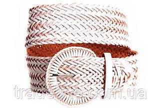 Женский плетеный пояс Dovhani PY4764409 105 см Белый, фото 3