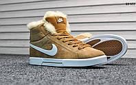 Мужские зимние кроссовки Nike Blazer mid PRM VNTG Suede рыжие