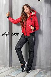 Костюм зимний женский на овчине куртка+штаны Размеры:42.44.46.48