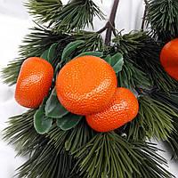 """Новогоднее украшение """"Ветка мандарин тройка """""""