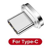 USLION Магнитный кабель USB Type-C быстрая зарядка 3А для Android Samsung Xiaomi для зарядки Цвет красный, фото 2