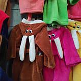 Яркий махровый детский халат Зайчик, фото 6