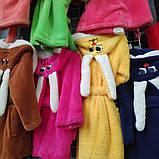 Яркий махровый детский халат Зайчик, фото 5