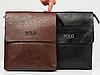 Мужская кожаная сумка через плечо Polo Videng Leather Сумка-планшет+Подарок Polo Leather, фото 3