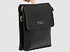 Мужская кожаная сумка через плечо Polo Videng Leather Сумка-планшет+Подарок Polo Leather, фото 6
