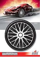 Колпаки колесные Mugello White Black R13