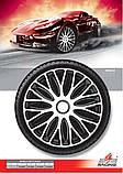 Колпаки колесные Mugello White Black R14, фото 2