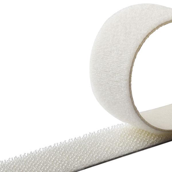 HPX 80002/80003 - самоклеящаяся лента-застежка ZIP FIX - грибок - велюр, белая