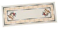 """Дорожка на стол новогодняя гобеленовая 45х140 """"Рождество в Карпатах"""" RUNNER723-45(с золотой люрексовой ниткой)"""