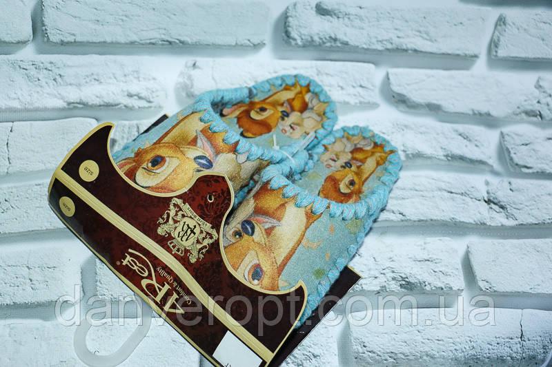 Тапочки домашние женские с ярким принтом размер 36-41 купить оптом со склада 7км Одесса