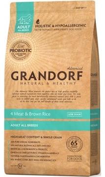 Сухой корм Grandorf Living Probiotics 4 Meat & Brown Rice с пробиотиком для взрослых собак всех пород 12 кг