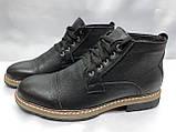 Зимние кожаные ботинки на шнурках Faro, фото 3