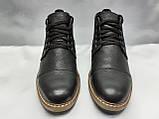 Зимние кожаные ботинки на шнурках Faro, фото 5