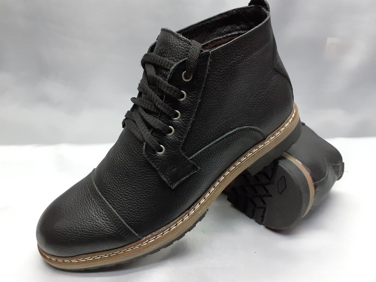 Зимние кожаные ботинки на шнурках Faro