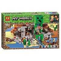 "Конструктор Bela (Lari) 11363 Minecraft ""Шахта крипера"", 852(аналог Lego Майнкрафт, Minecraft 21155), 852 дет"