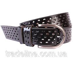 Мужской кожаный ремень Dovhani 301121476 115 см Черный, фото 3