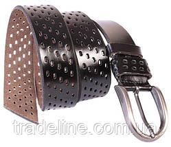 Мужской кожаный ремень Dovhani 301121476 115 см Черный, фото 2