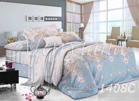 Комплект постельного белья с компаньоном Merryland поплин Двуспальный 1408С