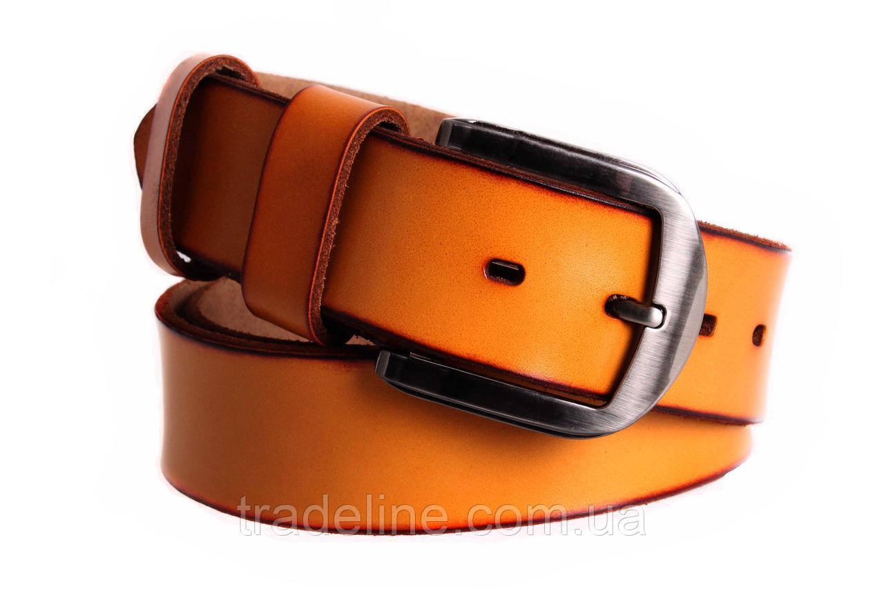 Мужской кожаный ремень Dovhani FIN7405-11502 120 см Рыжий