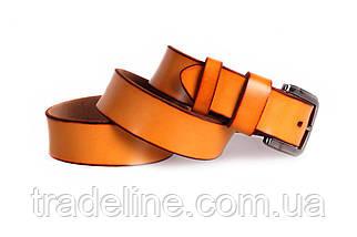 Мужской кожаный ремень Dovhani FIN7405-11502 120 см Рыжий, фото 3