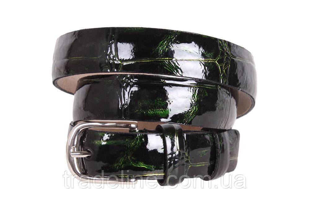 Женский узкий ремень Dovhani 49206503 105-115 см Темно-Зеленый