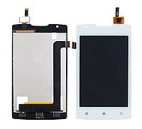 Дисплей для LENOVO A1000 с белым тачскрином (смартфон)