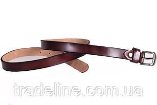 Женский узкий ремень Dovhani кт6616526 105-115 см Бордовый, фото 3