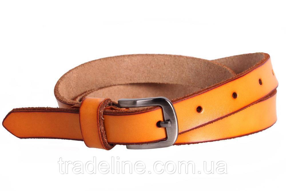 Женский узкий ремень Dovhani кт6647528 105-115 см Оранжевый